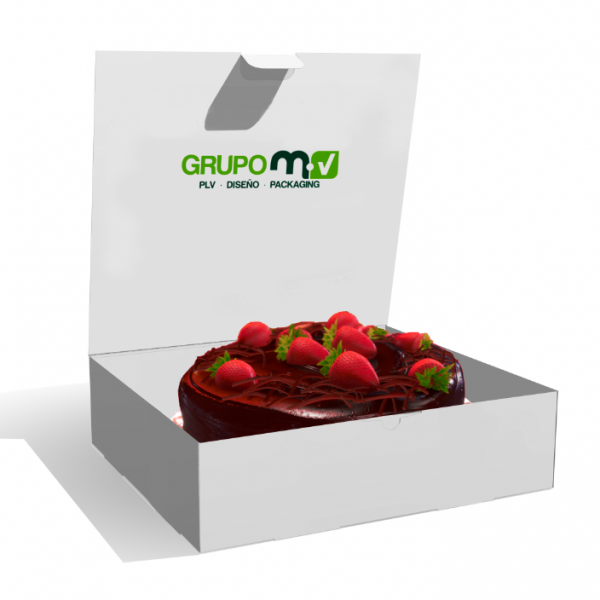 CAJA TARTA GRUPO MV PLV PACKAGING