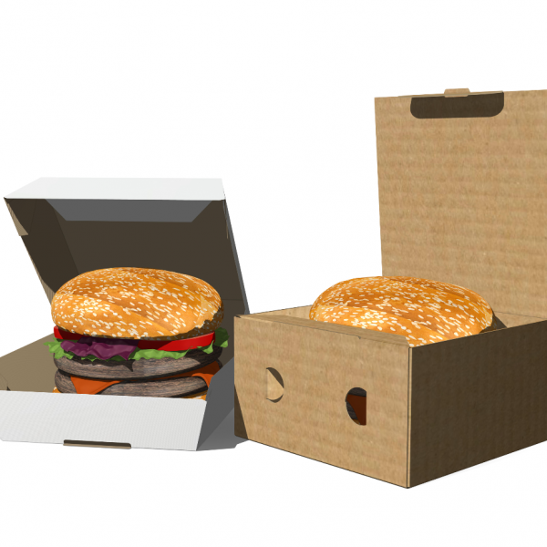CAJA HAMBURGUESA PLV PACKAGING
